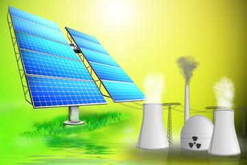 Ökostrom contra Atomstrom