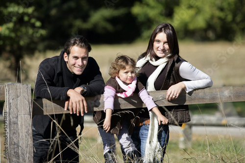 Family enjoying a walk in the countryside