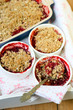 Strawberry and apricot crumbles