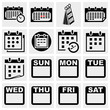 Calendar vector icons set.
