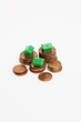 Geldmünzen, Monopoly-Häuser 2