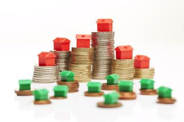 Geldmünzen, Monopoly-Skyline 3