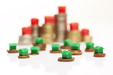 Geldmünzen, Monopoly-Skyline 4