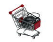 Shopping cart with a computer mouse