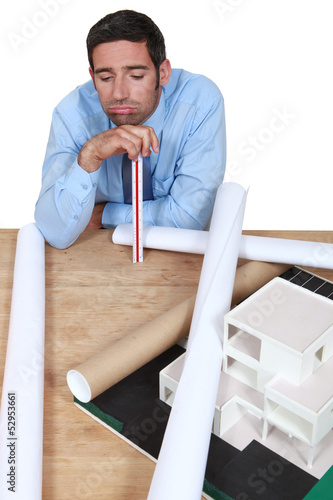 businessman looking tired and bored
