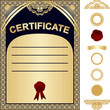 Certificate Template - gold and dark blue design