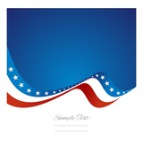 Abstract US flag ribbon vector