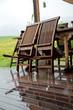 terrasse bei regenwetter