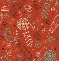 Ethnic ornate pattern. Seamless native background