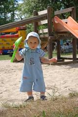 Kinderfest im Sommer mit Hüpfburg