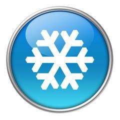 Bottone vetro fiocco neve/ghiaccio