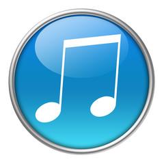 Bottone vetro musica