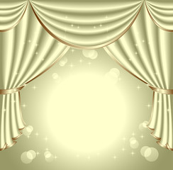 Background with light olive drapes