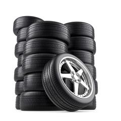 Wheels pile