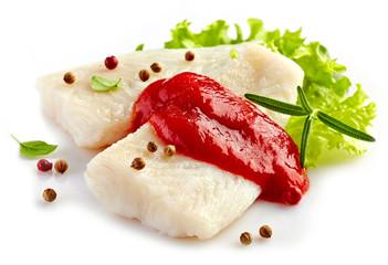 fresh prepared fish fillet