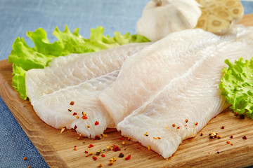 fresh raw fish fillet