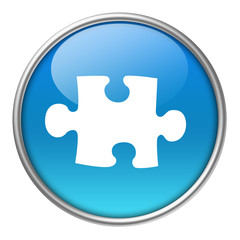 Bottone vetro puzzle