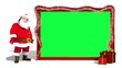 Santa loopable with postcard green screen