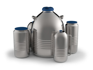 Cryogenic Dewar flasks