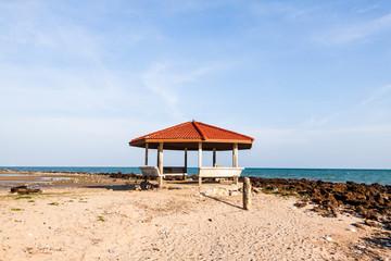 Landscape pavilion in the sea