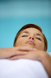 Woman laid down relaxing
