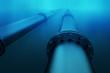 Leinwanddruck Bild - Underwater pipeline.
