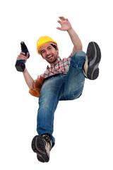 Manual worker falling.