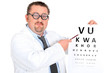 Funny ophtalmologist with bifocal glasses
