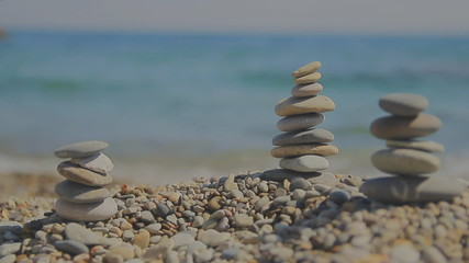Balanced Zen stones, vacation, entertainment