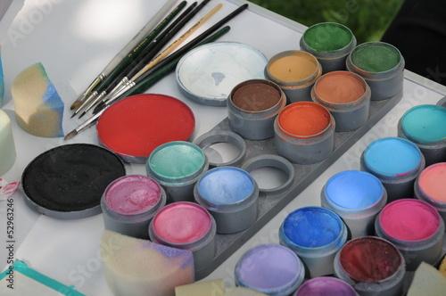 canvas print picture Farben für Kinderschminken