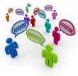 Advertise Speech Bubble People Talking Marketing Promotion