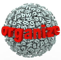Organize Your Thoughts Letter Sphere Make Sense from Mess