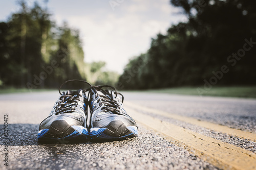 canvas print picture New Running Shoes