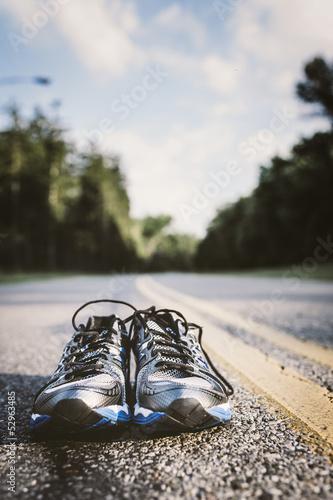 Leinwanddruck Bild New Running Shoes
