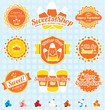 Vector Set: Candy Corn Labels and Icons