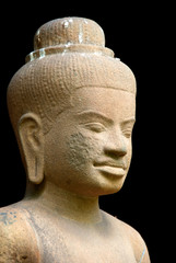 Antique statue closeup,Asian