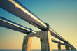 canvas print picture - Pipeline sunset.