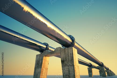 Leinwanddruck Bild Pipeline sunset.