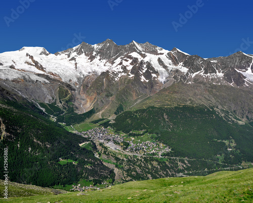 view of  Saas Fee, Switzerland