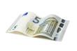 Neuer 5 Euro Schein mit Pfad isoliert