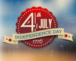 Vector independence day badge / poster