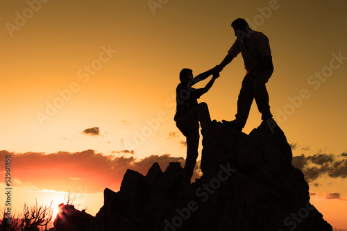 mountaineers&sunset