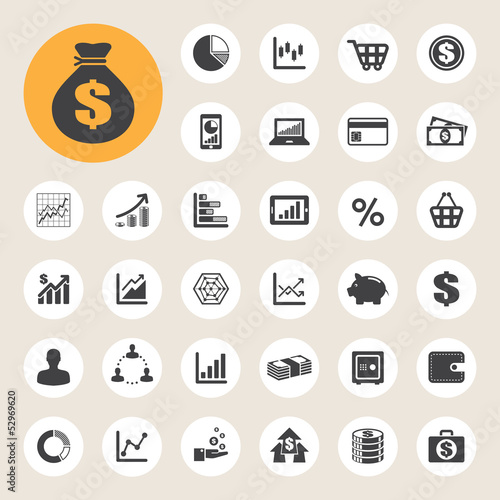 Business and finance icon set.
