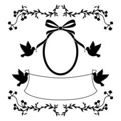 小鳥のウエディングフレーム