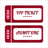 vintage paper tickets with special design