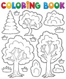 Coloring book tree theme 1