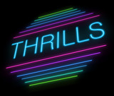 Thrills sign. poster
