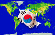Fist in color  national flag of south korea    punching world ma