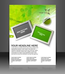 Vector brochure, flyer, magazine cover