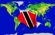 Fist in color  national flag of trinidad tobago    punching worl